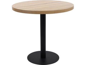 Table de bistro Marron clair 80 cm MDF - vidaXL