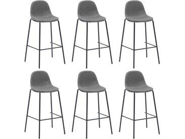 Chaises de bar 6 pcs Taupe Tissu - vidaXL