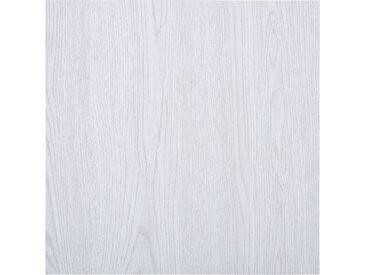 Planches de plancher autoadhésives 5,11 m² PVC Blanc  - vidaXL