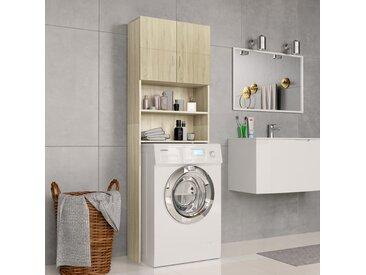 Meuble de machine à laver Chêne Sonoma 64x25,5x190 cm Aggloméré  - vidaXL