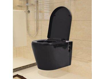 Toilette murale Céramique Noir - vidaXL