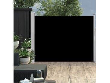 Auvent latéral rétractable de patio 170x500 cm Noir - vidaXL