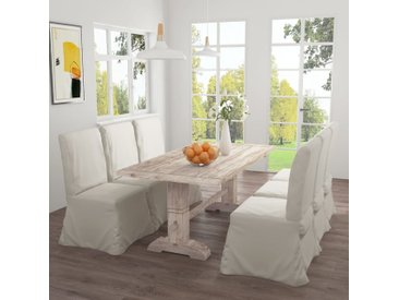 Table de salle à manger 180x90x75 cm Bois de teck solide - vidaXL