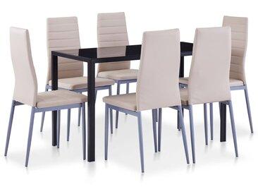 Ensemble de salle à manger 7 pcs Cappuccino  - vidaXL