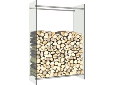 Portant de bois de chauffage Transparent 80x35x120 cm Verre - vidaXL