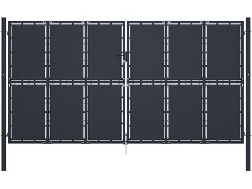 Portail de jardin Acier 400 x 175 cm Anthracite - vidaXL