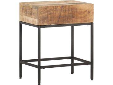 Table d'appoint 40x30x50 cm Bois massif de manguier brut - vidaXL