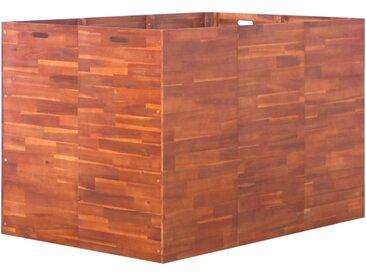 Lit surélevé de jardin Bois d'acacia 150x100x100 cm - vidaXL