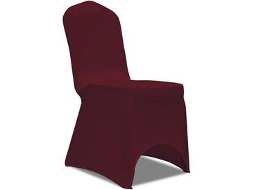 50 housses de chaise extensibles bordeaux - vidaXL
