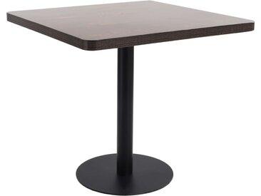 Table de bistro Marron foncé 80x80 cm MDF - vidaXL