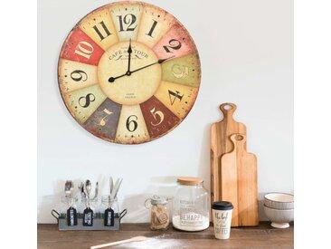 Horloge murale vintage Colorée 60 cm - vidaXL