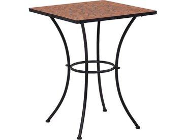 Table de bistro mosaïque Terre cuite 60 cm  Céramique - vidaXL