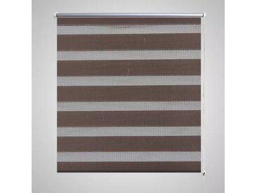 Store enrouleur tamisant 100 x 175 cm marron - vidaXL