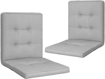 Coussins de chaise de jardin 2 pcs Gris 100x50x5 cm - vidaXL