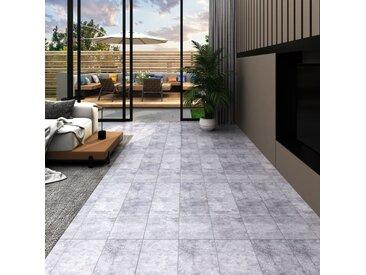 Planches de plancher PVC 4,46 m² 3 mm Autoadhésif Gris ciment - vidaXL