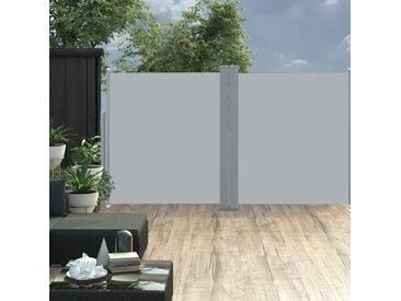 Auvent latéral double rétractable de patio 170x600cm Anthracite - vidaXL