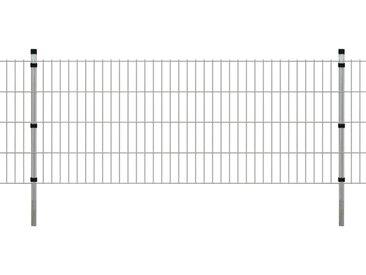 Panneaux et poteaux de clôture 2D pour jardin 2008x830 mm 36 m - vidaXL