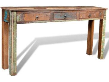 Table console avec 3 tiroirs Bois recyclé  - vidaXL