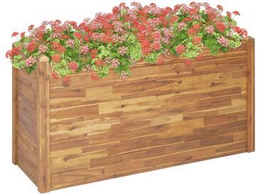 Jardinière 160x60x84 cm Bois d'acacia solide - vidaXL