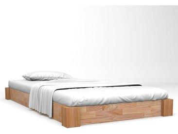 Cadre de lit Chêne solide 120x200 cm  - vidaXL