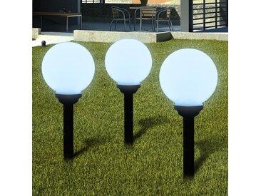 Boule solaire extérieure 20 cm 3 pièces - vidaXL