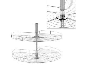 Panier à 2 niveaux métallique de cuisine 270 degrés 82x82x80 cm - vidaXL