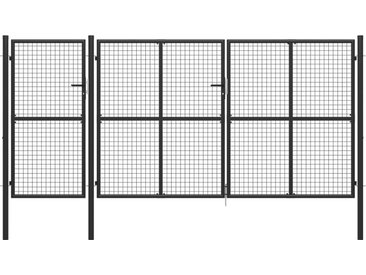 Portail de jardin Acier 400 x 200 cm Anthracite - vidaXL