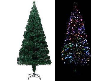 Sapin de Noël artificiel avec support Vert 180 cm Fibre optique - vidaXL