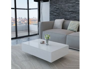 Table basse Haute brillance Blanche - vidaXL