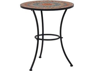 Table de bistro mosaïque Orange/gris 60 cm Céramique - vidaXL