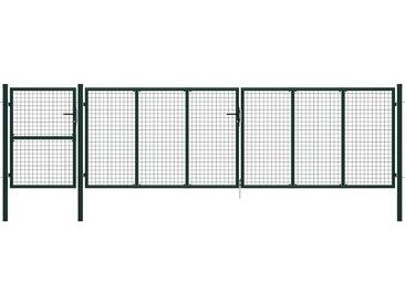 Portail de jardin Acier 500 x 125 cm Vert - vidaXL