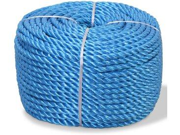 Corde torsadée Polypropylène 10 mm 500 m Bleu - vidaXL