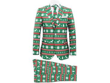 Costume 2 pièces Noël avec cravate Homme Taille 48 Festif Vert - vidaXL