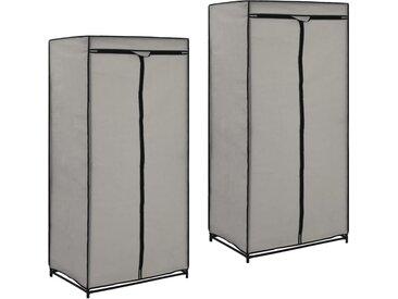 2 pcs Garde-robes Gris 75x50x160 cm - vidaXL