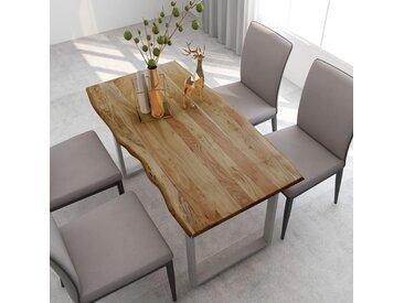 Table de salle à manger 140x70x76 cm Bois d'acacia solide - vidaXL