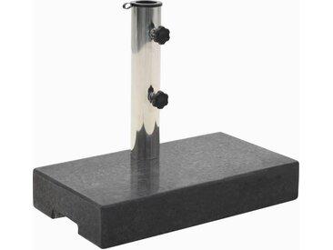 Socle de parasol rectangulaire Granite 25 kg Noir - vidaXL