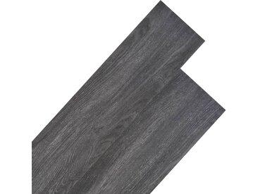 Planche de plancher PVC 5,26 m² 2 mm Noir et blanc - vidaXL