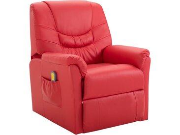 Fauteuil de massage Rouge Similicuir - vidaXL