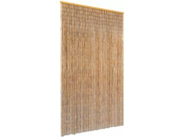 Rideau de porte contre insectes Bambou 120 x 220 cm - vidaXL