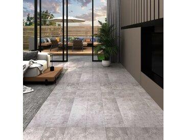 Planches de plancher PVC 5,02 m² 2 mm Autoadhésif Gris terre - vidaXL