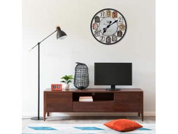 Horloge murale Multicolore 51 cm Fer - vidaXL