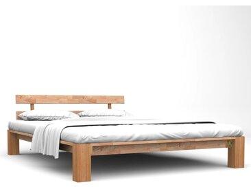 Cadre de lit Chêne solide 160 x 200 cm - vidaXL