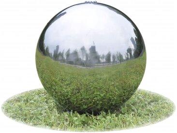 Sphère de fontaine de jardin avec LED Acier inoxydable 30 cm - vidaXL