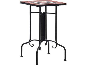 Tables d'appoint mosaïque Terre cuite et blanc Céramique  - vidaXL