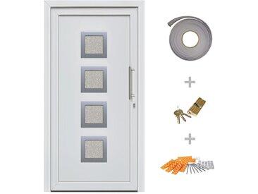 Porte d'entrée principale Blanc 98x190 cm - vidaXL