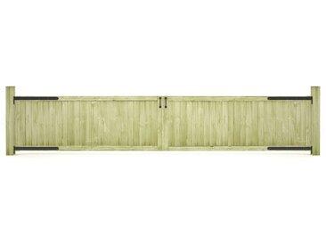 Portillons de jardin 2 pcs Bois de pin imprégné FSC 400x75 cm - vidaXL