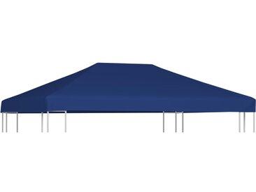 Toile supérieure de belvédère 310 g/m² 4x3 m Bleu - vidaXL