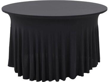 Nappes élastiques de table avec jupon 2 pcs 180x74cm Anthracite - vidaXL