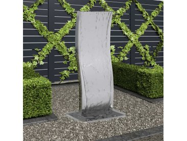 Fontaine de jardin avec pompe Acier inoxydable 90 cm Courbé - vidaXL