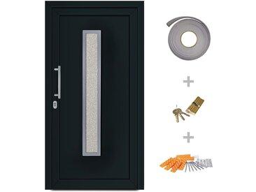 Porte d'entrée principale Anthracite 108x208 cm - vidaXL